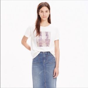 Madewell 100% Cotton Paris Snapshot Tee in Natural